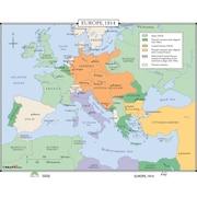 Universal Map World History Wall Maps - Europe 1914