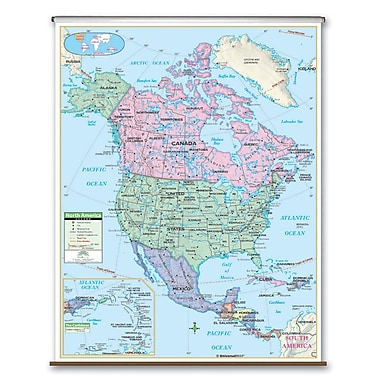 Universal Map Primary Wall Map - North America