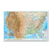 Universal Map Advanced Physical Rolled Map - Paper; U.S./World Combo