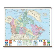 Universal Map Essential Wall Map - Canada; Roller with Backboard