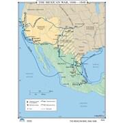 Universal Map U.S. History Wall Maps - Mexican War 1846-1848