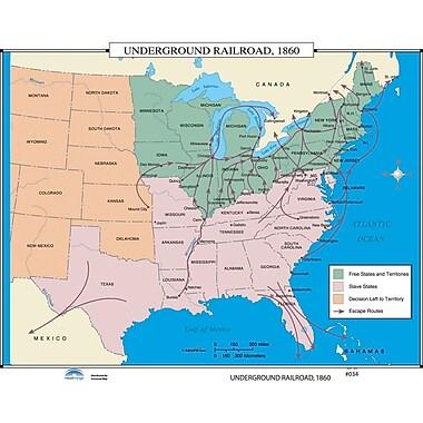 Universal Map U.S. History Wall Maps - Underground Railroad