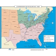 Universal Map U.S. History Wall Maps - Underground Railroad