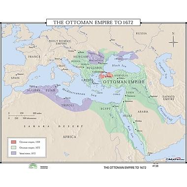 Universal Map World History Wall Maps - Ottoman Empire to 1672