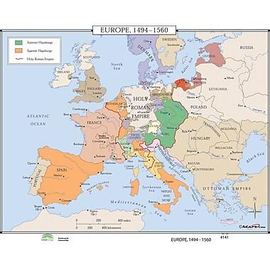 Universal Map World History Wall Maps - Europe 1494-1560