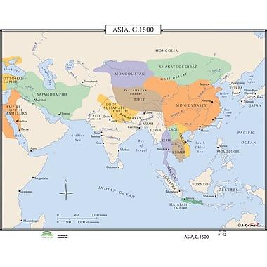 Universal Map World History Wall Maps - Asia c.1500
