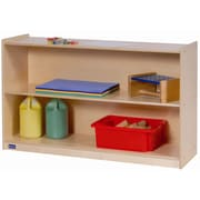 Steffy Wide High Two Shelf Mobile Storage