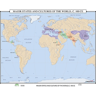 Universal Map World History Wall Maps - Major States & Cultures of the World