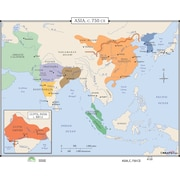 Universal Map World History Wall Maps - Asia c.750 CE