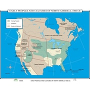 Universal Map World History Wall Maps - Early Peoples and Cultures of North America