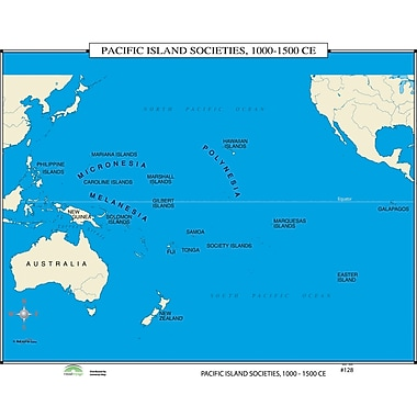 Universal Map World History Wall Maps - Pacific Island Societies