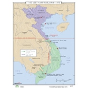 Universal Map World History Wall Maps - Vietnam War 1964-75
