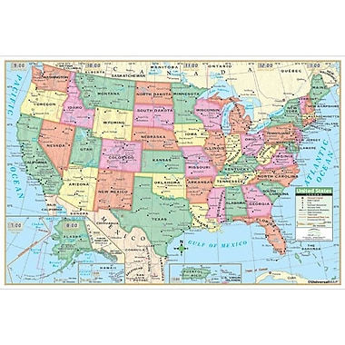 Universal Map United States Primary Mounted Wall Map