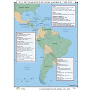 Universal Map World History Wall Maps - U.S. Involvement in Latin America