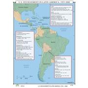 Universal Map World History Wall Maps - U.S. Involvement in Latin America