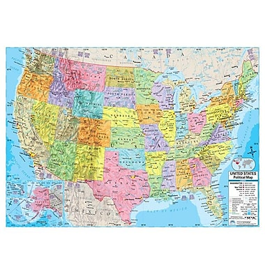 Universal Map United States Advanced Political Mounted Wall Map