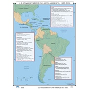 Universal Map U.S. History Wall Maps - U.S. Involvement in Latin America