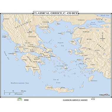 Universal Map World History Wall Maps - Classical Greece