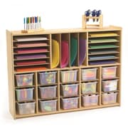 Angeles Value Line Multi-Section Storage with Opaque Trays