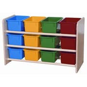 Wood Designs See-All Storage Unit 12 Compartment Cubby; Assorted Tray