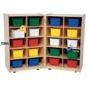 Wood Designs Folding Vertical Storage Unit 20 Compartment Cubby; Assorted Tray