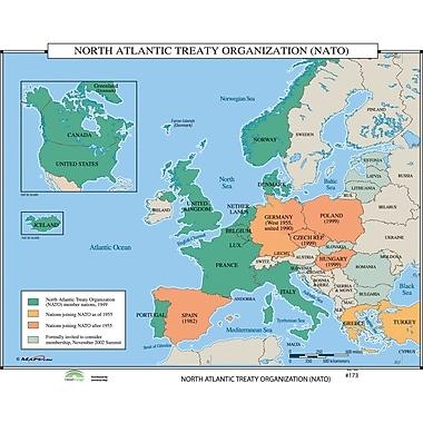 Universal Map World History Wall Maps - North Atlantic Treaty Organization (NATO)