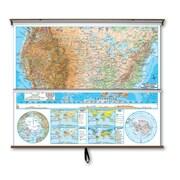 Universal Map Advanced Physical Map Combo - U.S. / World