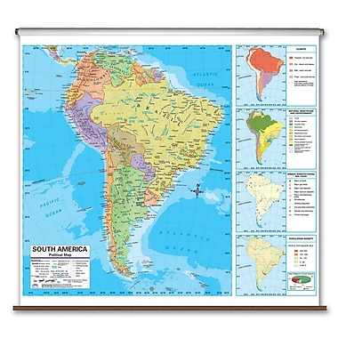 Universal Map Advanced Political Map - South America