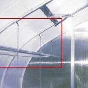 Hoklartherm Riga IIs Greenhouse Top Shelf