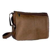 David King Vaquetta Leather Messenger Bag; Cafe / Dark Brown