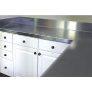 A-Line by Advance Tabco Stainless Steel Counter Top with Backsplash; 6.5'' H x 48'' W x 30'' D