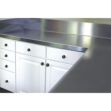 A-Line by Advance Tabco Stainless Steel Counter Top w/ Blacksplash; 13'' H x 96'' W x 24'' D