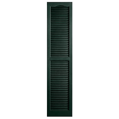Alpha Shutters Exterior 14'' x 81'' Louvered Shutter (Set of 2); Pine
