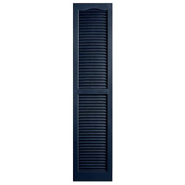 Alpha Shutters Exterior 14'' x 71'' Louvered Shutter (Set of 2); Royal