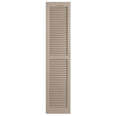 Alpha Shutters Exterior 14'' x 71'' Louvered Shutter (Set of 2); Sandstone
