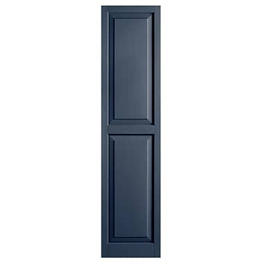 Alpha Shutters Exterior 15'' x 59'' Raised Panel Shutter (Set of 2); Indigo Blue