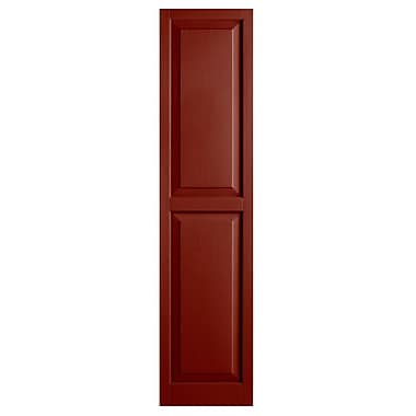Alpha Shutters Exterior 15'' x 55'' Raised Panel Shutter (Set of 2); Red