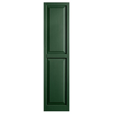 Alpha Shutters Exterior 15'' x 71'' Raised Panel Shutter (Set of 2); Green