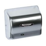 American Dryer Advantage Standard 100 - 240 Volt Hand Dryer in Stainless Steel