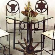 Grace Horseshoe Dining Table; Gun Metal
