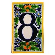 Native Trails Hand Painted House Number '0' in Peaches Address Plaque; 8