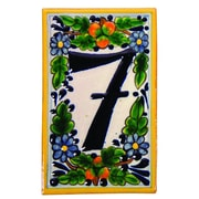 Native Trails Hand Painted House Number '0' in Peaches Address Plaque; 7