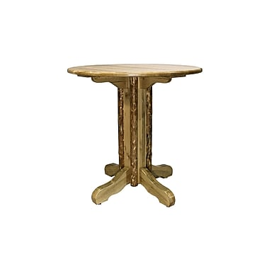 Montana Woodworks Glacier Country Center Pedestal Dining Table