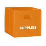 RiverRidge Kids Folding Storage Bin V; Orange