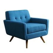 Abbyson Living Leyla Fabric Arm Chair; Blue