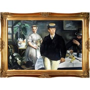 Breakfast in the Studio the Black Jacket by Edouard Manet Framed Painting Print on Wrapped Canvas