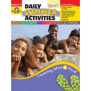 Evan-Moor Educational Publishers Daily Summer Activities: Moving from 6th to 7th Grade for Grades 6-7 (1067)