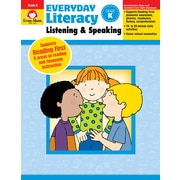 "Evan-Moor Educational Publishers ""Everyday Literacy: Listening and Speaking Grade K Edition 1,"" Paperback (2415)"