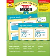 Evan-Moor Educational Publishers Take It to Your Seat: Common Core Math Centers Grade 3 Ed. 1 (3073)