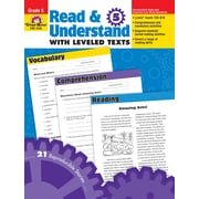 Evan-Moor Educational Publishers Read and Understand with Leveled Texts for Grade 5 (3445)